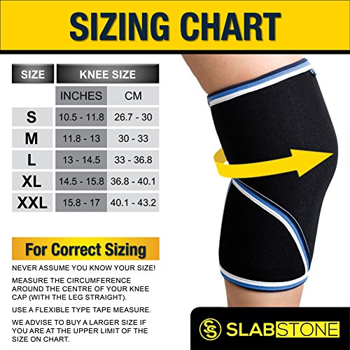 58c5d6ce0f SLABSTONE 7mm Knee Sleeves Support Braces Wraps Compression Sleeve for  Powerlifting Crossfit Bodybuilding Weight lifting Heavy