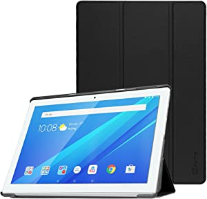 Fintie Lenovo Tab4 10 Case - Ultrathin Super Lightweight Protective Case with Auto Sleep / Wake Function for Lenovo Tab 4 10 (10 inch) Tablet PC (Not for Lenovo Tab4 10 Plus), Black