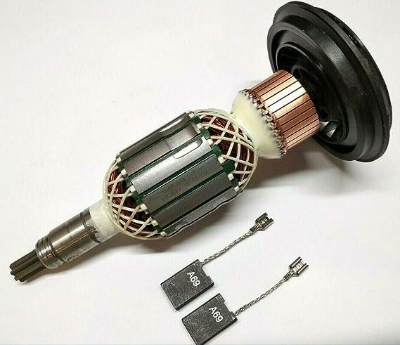 Motor Anker Rotor Läufer + carbón para Bosch GSH 11 E,GBH 11 DE,WÜRTH MH10-SE,Berner BCDH-11