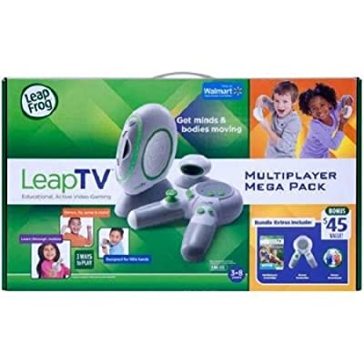 LeapFrog LeapTV Educational Active Video Gaming System Multiplayer Mega Bundle: Toys & Games