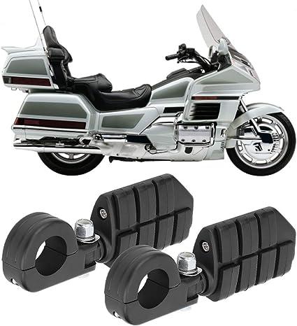 2Pcs 32mm Pedane poggiapiedi nero moto con montaggio Suuonee Pedale moto