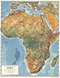Gifts Delight LAMINATED 24x31 Poster: Physical Map - South Africa Map Geography Of South Africa Map Of South Africa LONG HAIRSTYLES