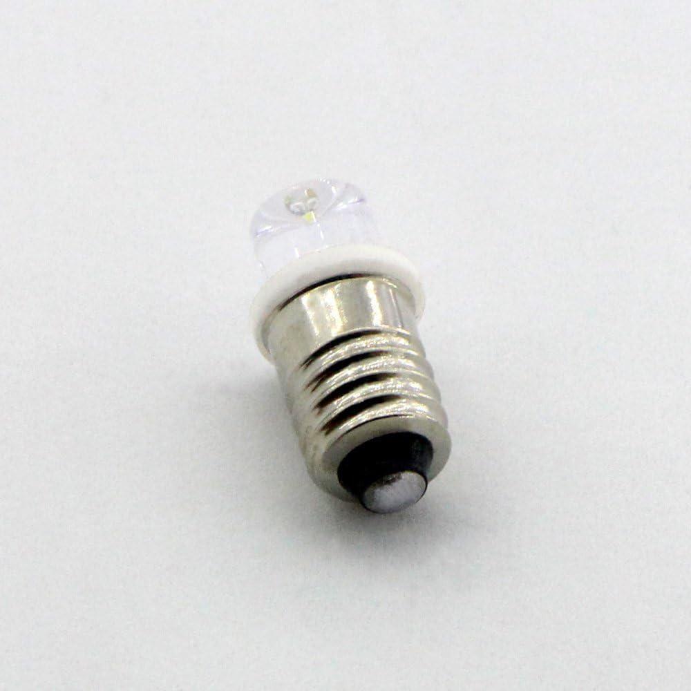 GutReise DC 10pcs e10 6v flutlicht led birne flut lampen kalt wei/ß+10pcs e10 basis 6v, kalt wei/ße