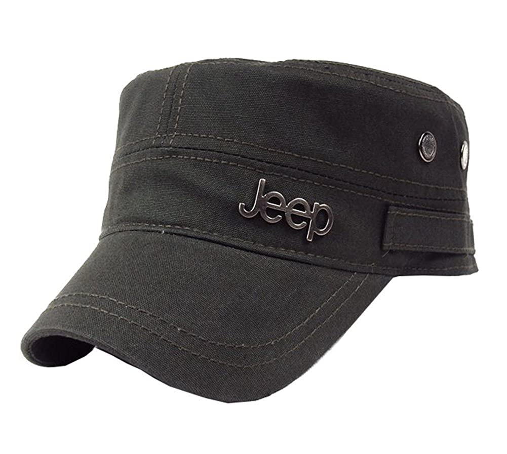 c4e2f46f92be3 Jeep Tactical Cadet Hats Military Caps Twill Army Corps Cap Flat Top Cap  Baseball Hat at Amazon Men s Clothing store
