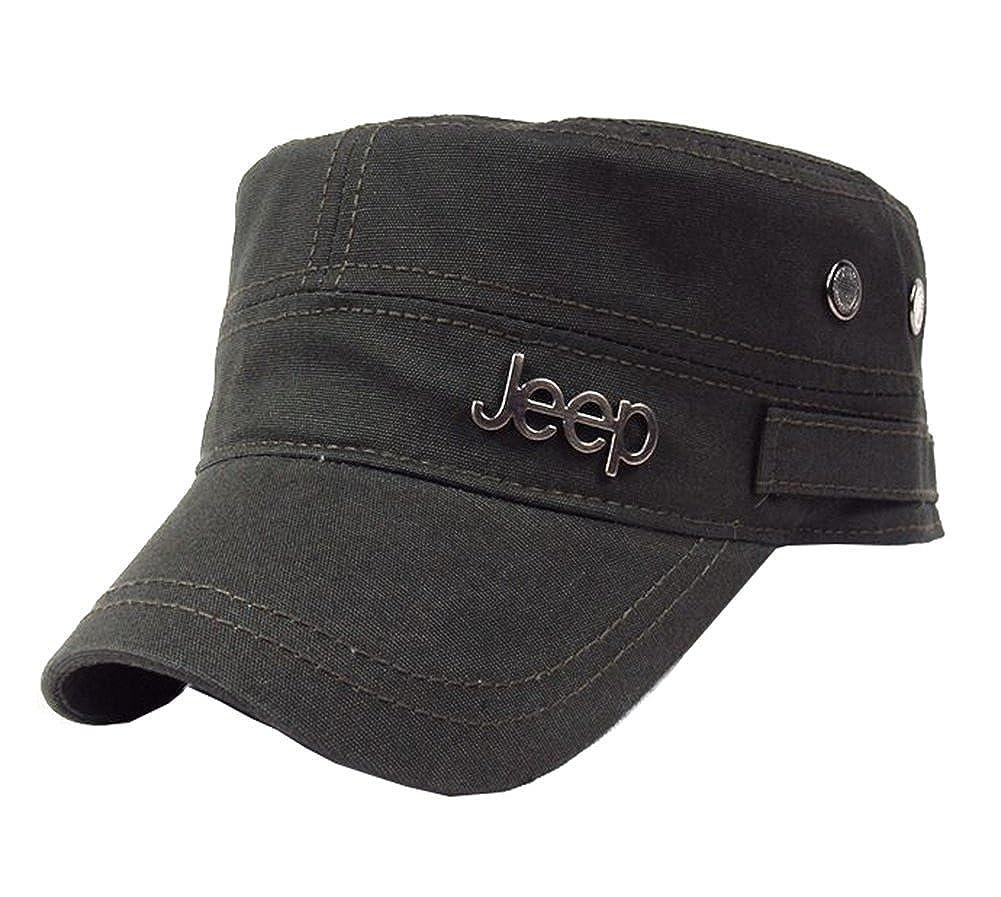 468e1918 Jeep Tactical Cadet Hats Military Caps Twill Army Corps Cap Flat Top Cap  Baseball Hat: Amazon.ca: Home & Kitchen