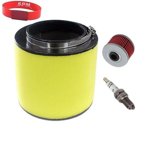SPM Filtro de aire Filtro de aceite para bujías para Honda Fourtrax 300 trx300 2 x