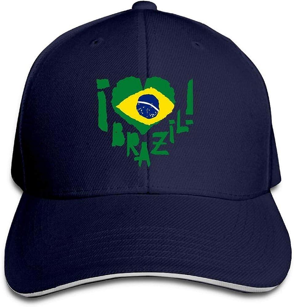 Love Brazil Outdoor Snapback Sandwich Cap Adjustable Baseball Hat Dad Hat