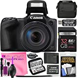 Canon PowerShot SX420 IS Wi-Fi Digital Camera with high-speed 32GB Card + Case + Battery & Charger + Tripod + Complete Camera Works Cleaning and Accessory Kit/Bundle