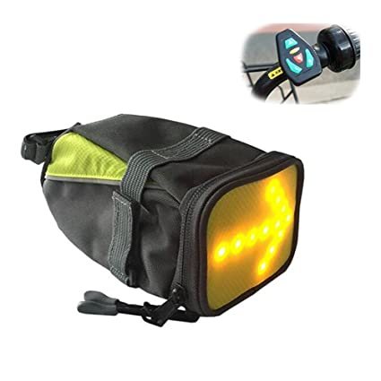 Amazon.com : FJY LED Bike Saddle Bags Rear Panniers,Bicycle ...