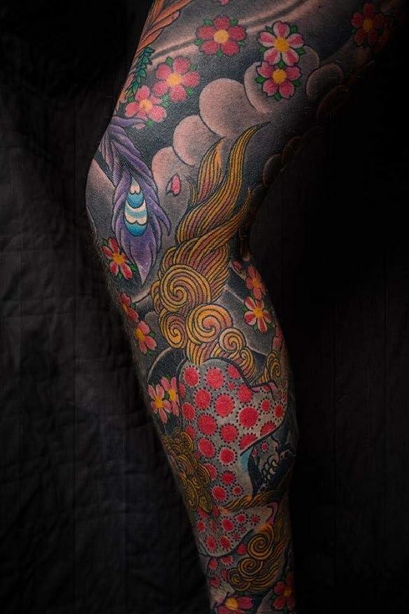 WZZPSD Pintura por Números Tatuaje De La Pierna Arte Estilo De ...