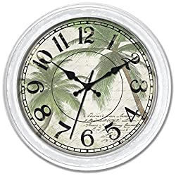 Ashton Sutton Wall Clock with Palm Nautical Dial