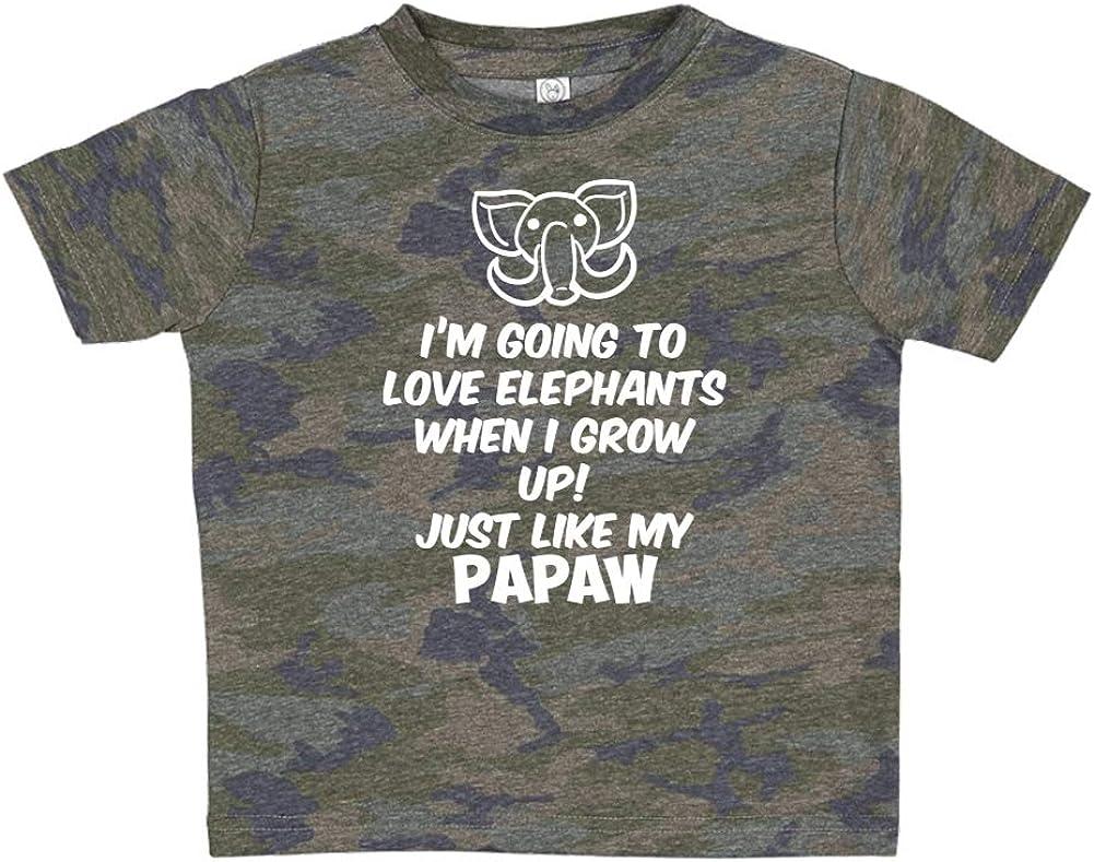 Toddler//Kids Sweatshirt Im Going to Love Elephants When I Grow Up Just Like My Papaw
