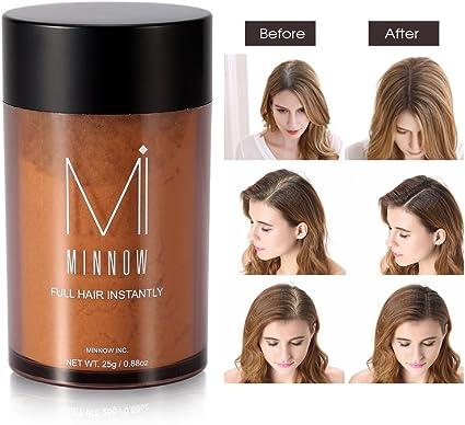 Fibras de pelo, Fibras Capilares a la línea profesional para hombres y mujeres (marrón claro): Amazon.es: Belleza