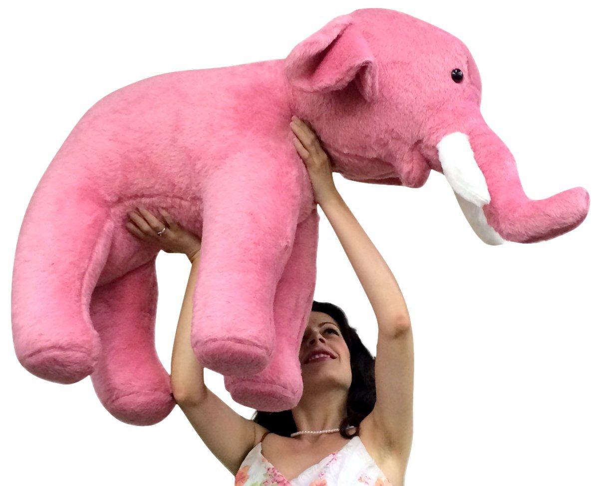Amazon Com Big Plush Giant Stuffed Pink Elephant 3 Feet Long Soft