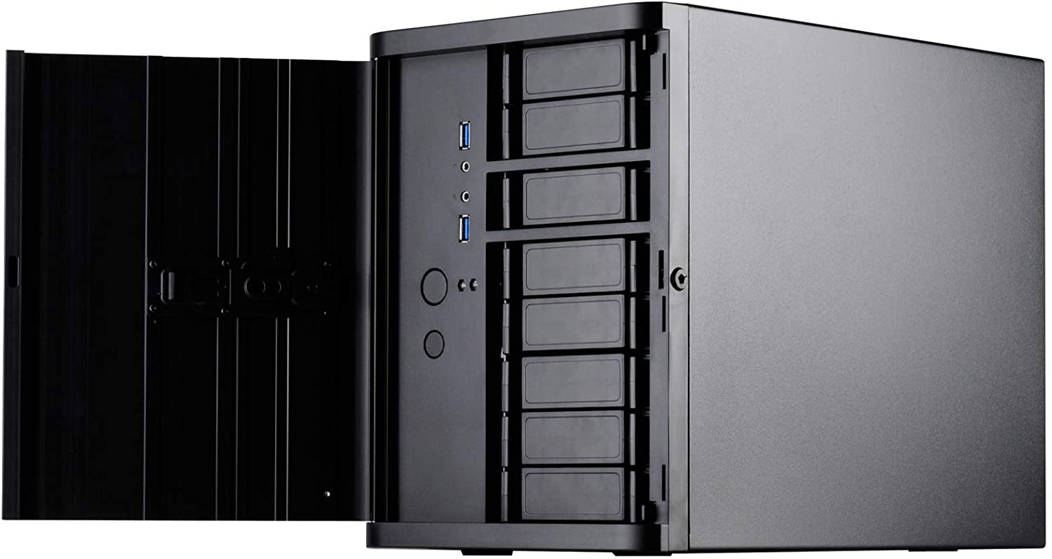 SilverStone Technology Premium Mini-Itx/DTX Small Form Factor NAS Computer Case, Black DS380B-USA Newest Version (SST-DS380B-USA)