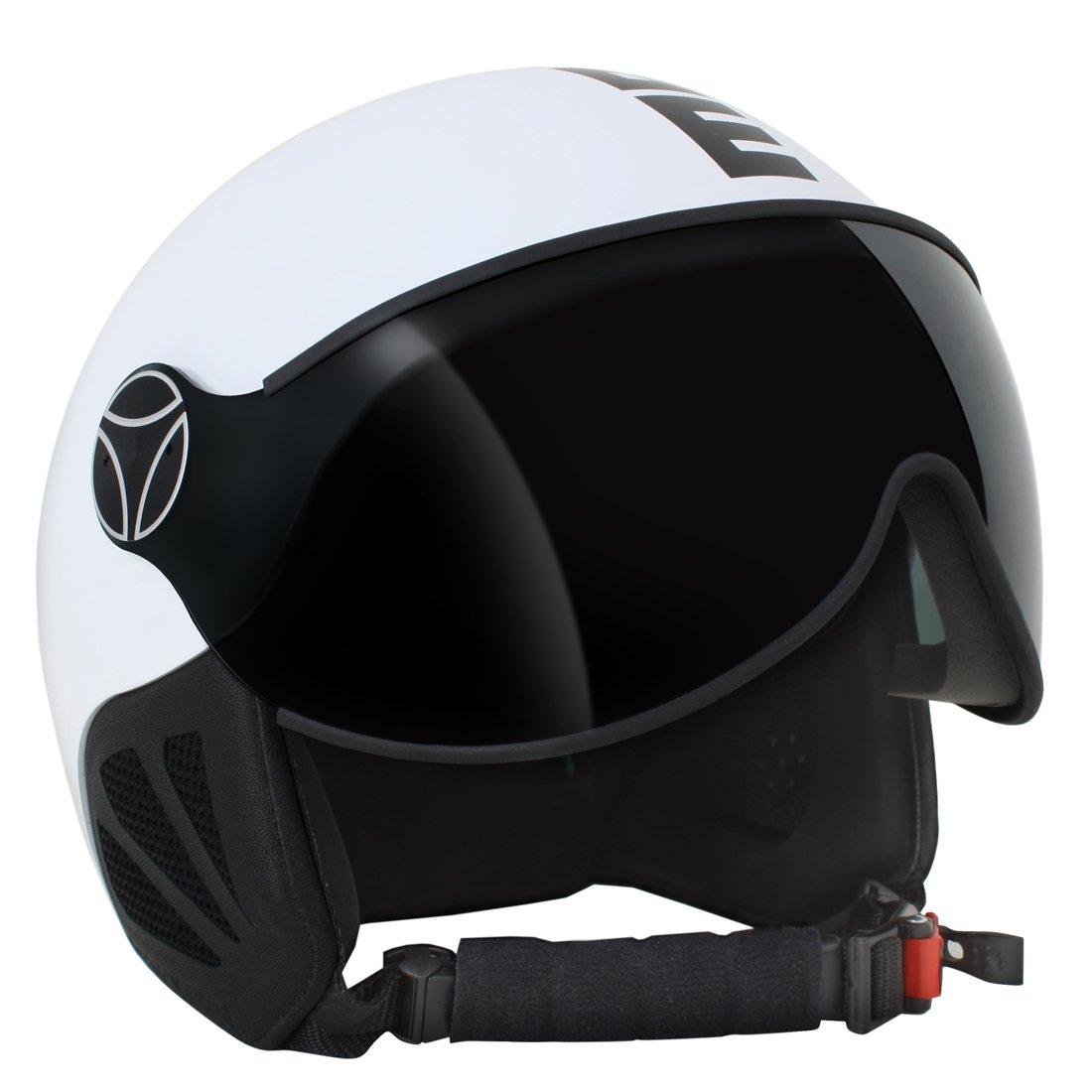 MOMO Design KOMET18 Visor White Mat//Black Casco esqu/í L//XL Blanco Unisex Adulto