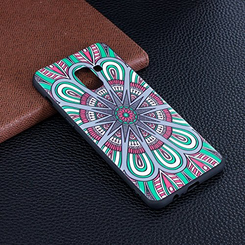 Samsung Galaxy Etui Plus A8 Slim 2018 Femme Ultra A8 de Samsung Herbests Housse Plus Plus Coque Galaxy Galaxy 2018 2018 Coque avec Coque A8 Samsung pour Protection Mandala Homme Silicone Fille Silicone Motif 51UxnYx
