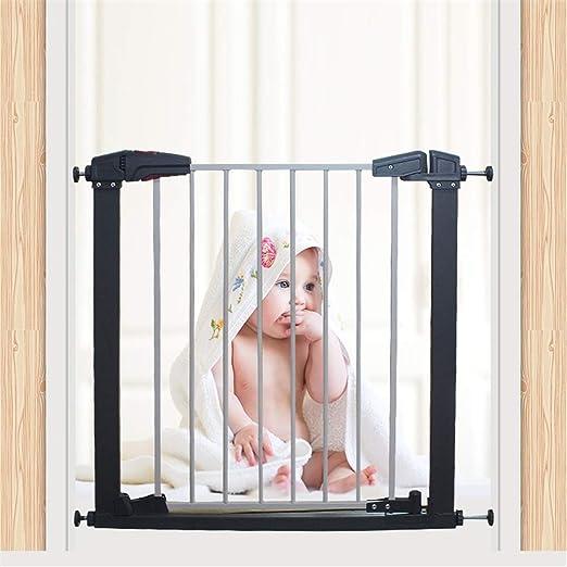 GFYWZ Niños Escalera Puerta de Seguridad Auto Cerrar retráctil Perro Mascota bebé Barrera Protector casa Puerta Separador de escaleras Protector de Escalera (80H x 77-175W cm): Amazon.es: Hogar