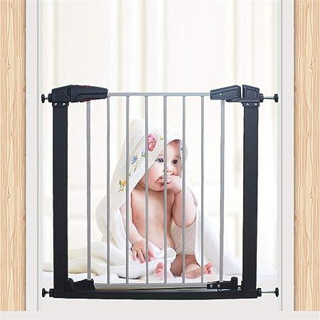Dbtxwd Puerta de Seguridad de Escalera retráctil de Cierre automático para Perro Mascota bebé Inicio Puerta divisora Barrera Escalera Guardia: Amazon.es: Hogar