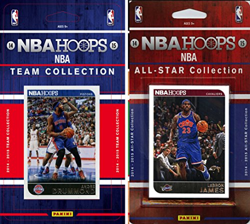fan products of NBA Detroit Pistons Licensed 2014-15 Hoops Team Plus All-Star Set, Brown, One Size
