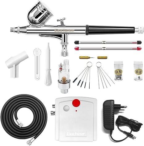 Gocheer mini kit aerografo con compresor profesional accion