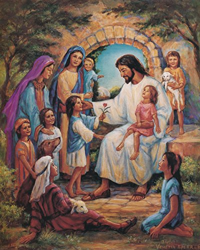 Jesus Christ With Children Religious Home Decor Wall Picture Art Print Photo Jesus Christ