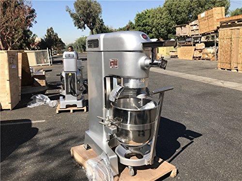 60 Qt Dough Mixer Bakery Pizza Dough Mixer NSF Commercial Stainless Steel Mixer
