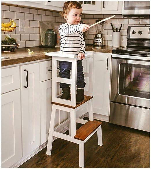 Relaxbx Taburete de Cocina para niños, Taburete de Cocina Taburete de Pedestal de Escalera Taburete Elevador para niños Taburete de Escalera Ascendente Antideslizante: Amazon.es: Hogar