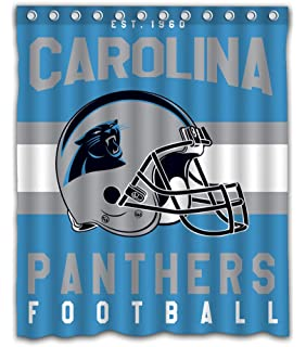 Sonaby Custom Carolina Panthers Waterproof Fabric Shower Curtain For Bathroom Decoration 60x72 Inches