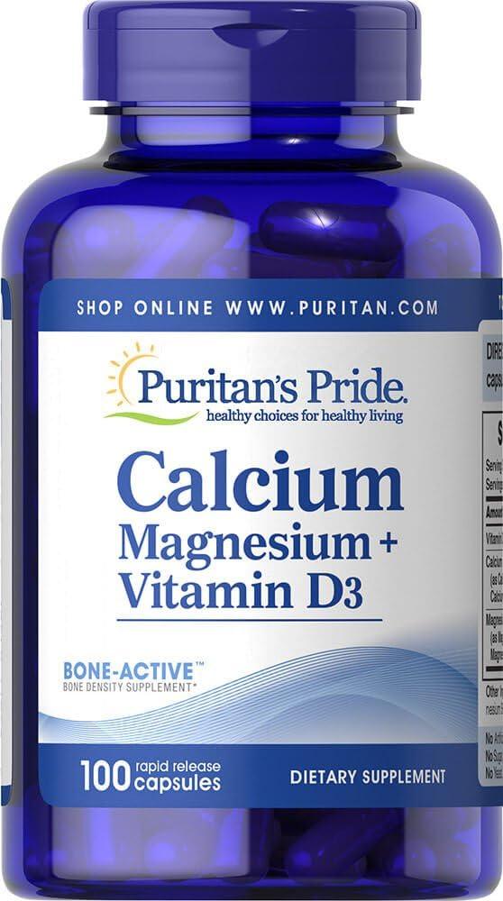 Puritan's Pride Calcium Magnesium Plus Vitamin D-100 Capsules