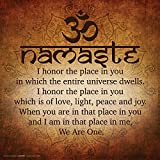 Namaste Buddhist Inspirational Motivational Spiritual Yoga Quote Print (Unframed 12x12 Poster)