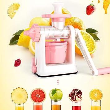 Liu Sensen Multi-Función De Zumo De Frutas Verduras Naranja Jugo De Sandía Mano-Manual Exprimidor Manivela Máquina De Helados Escariador Uso Doméstico,Pink: ...