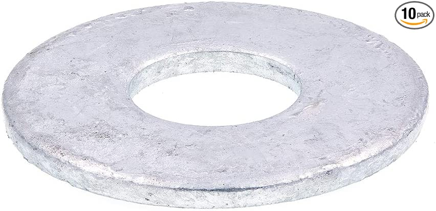 Pack of 10 0.165 Thick 2-1//2 OD ASME B18.22.1 Plain Finish Steel Flat Washer 1-3//8 ID 1-1//4 Screw Size