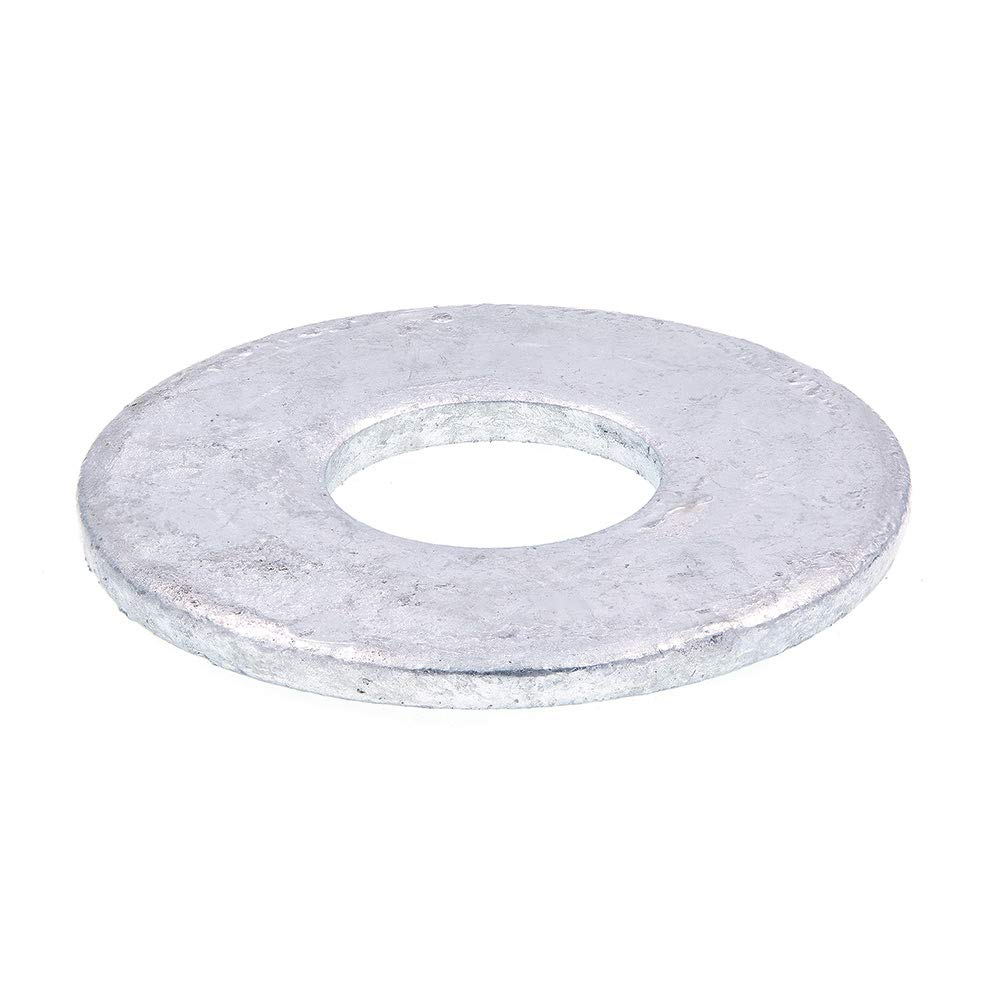 Prime Line 9080383 Flat Washers USS 3 4 in. X 2 in. OD Hot Dip Galvanized Steel 10 Pack