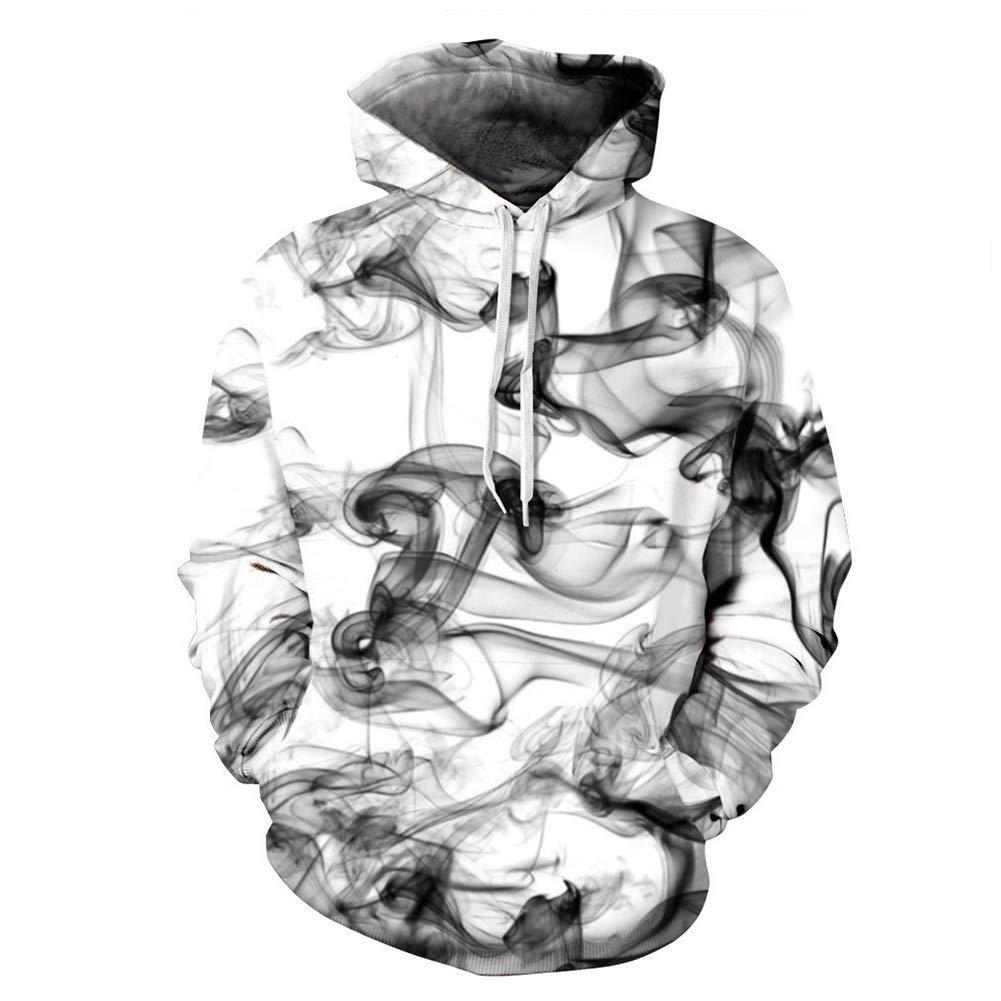 FuweiEncore 3D Skull Hoodie, 3D Hoodies, 3D Sweatshirt, Männer Frauen Mode Winter Frühling Sportswear Trainingsanzug mit Kapuze Sweatshirt (Farbe   2, Größe   S) (Farbe   2, Größe   XL)