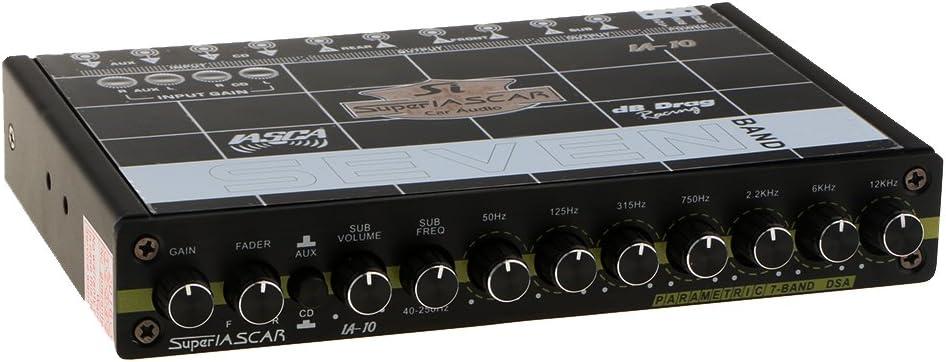 gazechimp Equalizzatore Audio EQ7 Di Alta Qualit/à EQ Uscita Sub Anteriore 10-14,4 V CC