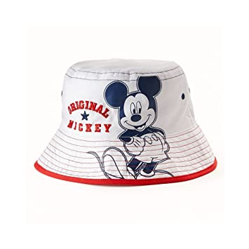 Amazon.com  Mickey Mouse White Bucket Sun Hat - Infant  Baby f0b403595b4