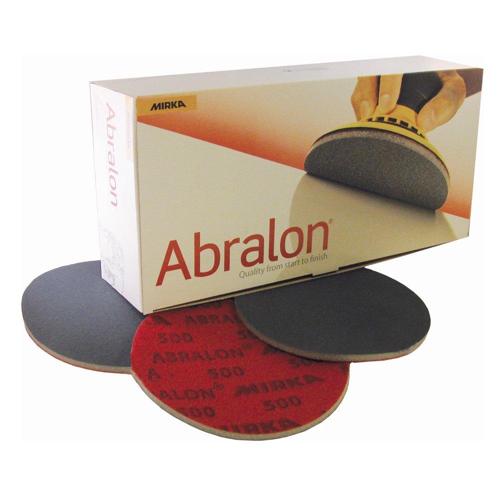 Mirka Abralon 6'' Bowling Ball Sanding Pads 20 Discs (Hook & Loop) Mix & Match