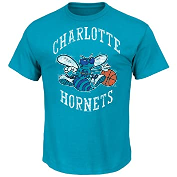 "Charlotte Hornets Majestic NBA Throwback ""Post Up Men s Camiseta ..."