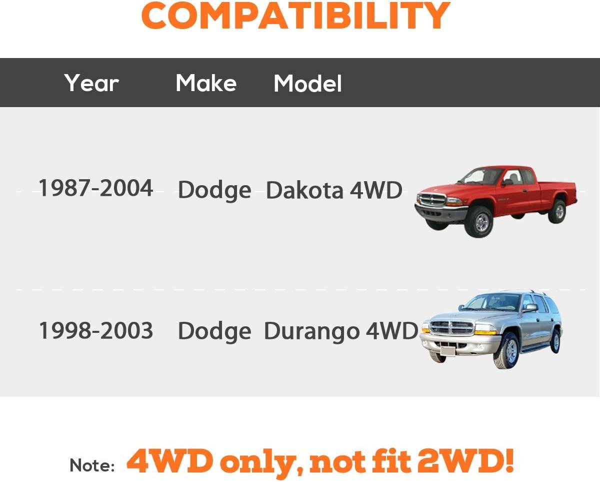 1-3 Torsion Bars Key for Dodge Dakota 1987-2004 4WD 4x4 Pick Up and Dodge Durango 1998-2003 4WD Off-Road Dynofit 1-3 Inch Torsion Keys Forged Adjustable Leveling Lift Kit Suspension Lift Kits