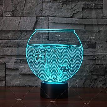 Bbdeng Lámpara LED de luz nocturna 3D Luz de Ambiente Lámparas Niños ...