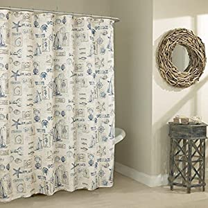 61aQSxaJQqL._SS300_ 200+ Beach Shower Curtains and Nautical Shower Curtains