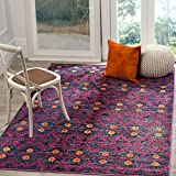 Safavieh Monaco Collection MNC213D Modern Bohemian Colorful Pink and Multi Distressed Area Rug (3′ x 5′)