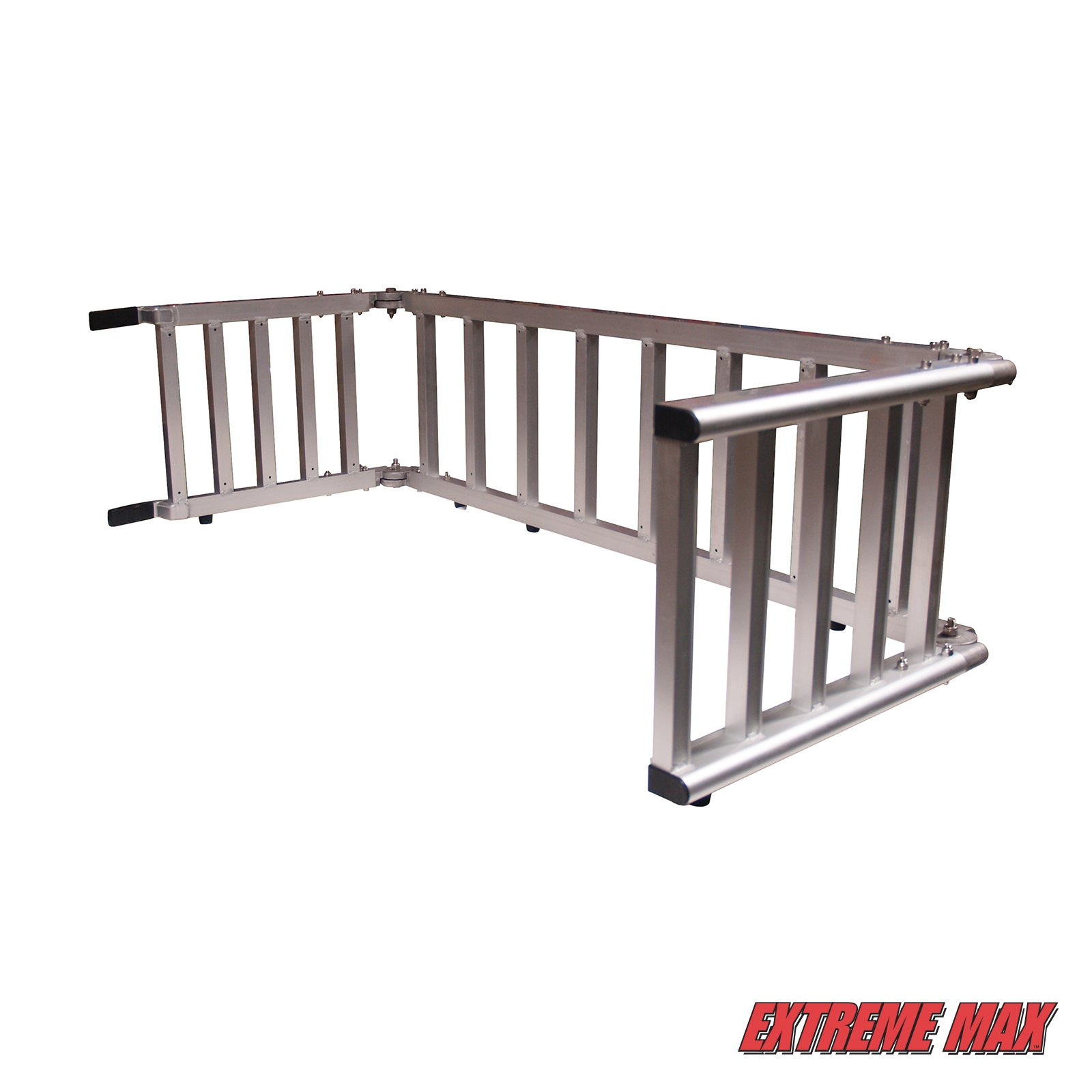 Extreme Max (NR002S-SLVR) Motorcycle RampXtender Aluminum Ramp Set and Tailgate Extender Combo by Extreme Max (Image #5)