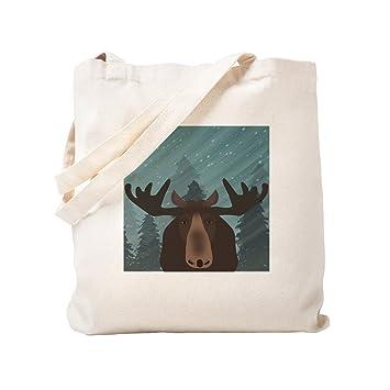 CafePress Moose Bolsa de lona natural, bolsa de la compra de ...
