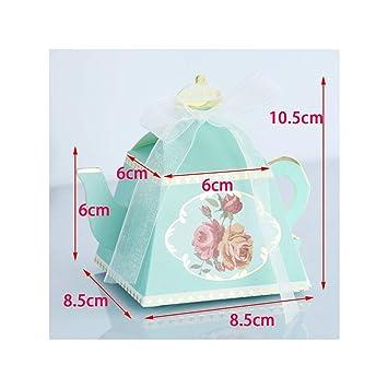 Amazon.com: Tetera cajas de caramelos recuerdos de boda y ...