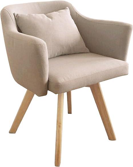 Menzzo - Silla/sillón Dantes de Estilo escandinavo con Tejido Beis, 58 x 58 x 70 cm: Amazon.es: Hogar