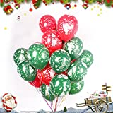 100 Pcs Merry Christmas Balloon - Latex Multicolor Balloons for Christmas, Birthday Parties, Bars and Schools Decoration
