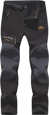 BenBoy Pantalones de Nieve Montaña Hombre Impermeables Invierno Calentar Pantalones Trekking Escalada Senderismo Esquiar Softshell
