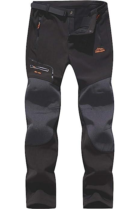 BenBoy Womens Outdoor Waterproof Windproof Fleece Cargo Snow Ski Hiking Pants